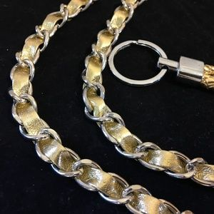 """Unbranded Bags - Woven Gold 46"""" Replacement Chain Strap & Key Ring"""